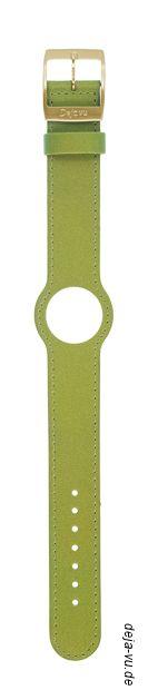 Deja Vu - Lederuhrenbänder, schmal, mit vergoldeter Edelstahlschließe pistaziengrün 19 EUR