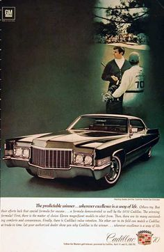 1970 Cadillac Sedan DeVille vintage ad. The predictable winner wherever excellence is a way of life.