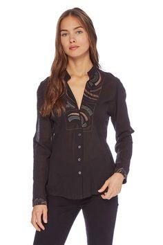 Vendita Nitya / 25789 / Maglie e camicie / Camicie a maniche lunghe / Camicia Nero