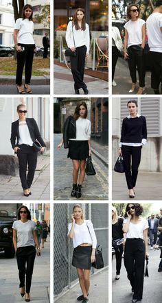 Black and white classy classical comfy work wear for autumn fall summer. From whoishanna?- blog