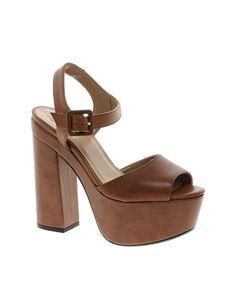 ASOS PREMIUM HYDE PARK Leather Heeled Sandals