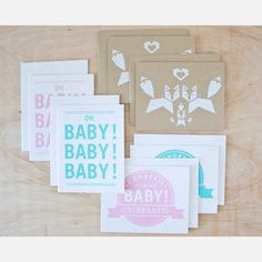 Baby Cards 6 Pack / Sass & Peril