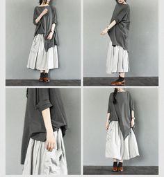 Irregular Edge White/Black Simple Bat Sleeve T-shirt Causel Matching Blouse Women Clothes