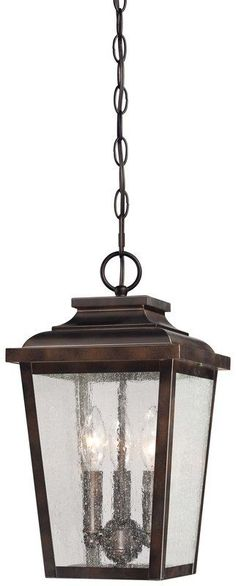 View the The Great Outdoors 72174-189 3 Light Lantern Pendant from the Irvington Manor Collection at LightingDirect.com.