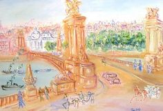Ponte Alexandre by Jean Dufy from Arcature Fine Art