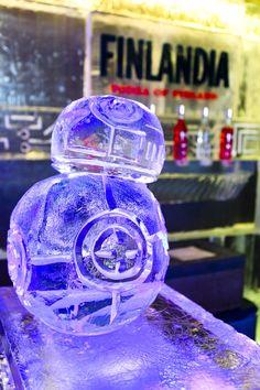 Escultura de hielo de BB8. Icebarcelona. Temática. Star Wars (2016)