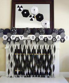 black + white + hexagons = Modern Soccer 7th Birthday Party