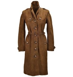 Burberry leather trench coat, $2,995, Saks Fifth Avenue.