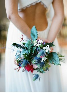 A gorgeous & unique wedding bouquet!