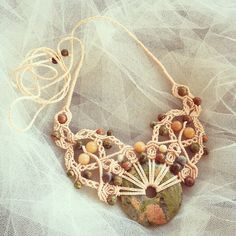 A personal favourite from my Etsy shop https://www.etsy.com/au/listing/250091392/soft-coral-handcrafted-macrame-necklace