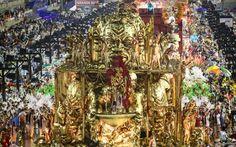 Dourado é o destaque de carro alegórico do Salgueiro