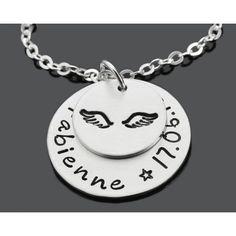 Taufgeschenke online - Eine schöne personalisierte Taufkette aus 925 Silber. Schmuck online vom Online Juwelier Galwani.de.