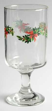 Pfaltzgraff Christmas Heritage, 8 oz. Goblet Glassware, $14.99 at Replacements, Ltd