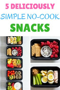 No time for meal prep? At least you can be prepared with a few nutritious no-cook snacks to get you through hectic days! https://www.beachbodyondemand.com/blog/simple-no-cook-snacks vegetarian recipes, vegetarian recipes Healthy, vegetarian recipes Easy,