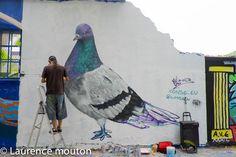 tags,street art, Barcelona, pigeon, Conse.eu