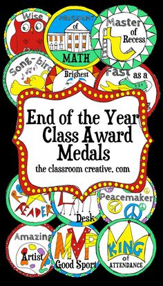 Need a new and refreshing take on awards and certificates? Check out these fun end of the year medals! They will be a hit in your classroom! Less likely to be thrown away :) Pre K Graduation, Kindergarten Graduation, Kindergarten Classroom, Kindergarten Calendar, End Of School Year, Too Cool For School, School Fun, School Stuff, School Ideas