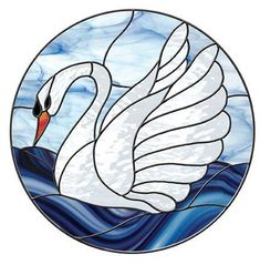 Free Stained Glass Patterns – Swan Circle by Mari Stein – Glass Art Designs Stained Glass Patterns Free, Stained Glass Quilt, Tiffany Stained Glass, Stained Glass Birds, Stained Glass Crafts, Faux Stained Glass, Stained Glass Lamps, Stained Glass Designs, Stained Glass Panels