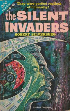 ED EMSHWILLER - art for The Silent Invaders by Robert Silverberg - 1963 Ace Double F-195 - would love to find the original art