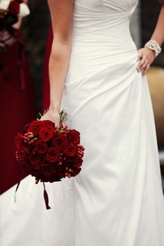 What I want my bouquet to look like (without the red ribbon, and with gold hypericum)