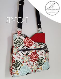 78e8b9b247b8 Pattern Difficulty  Intermediate Zip-To-It is the perfect bag for someone  who likes to pack light and love a great crossbody bag! It has three  compartments  ...
