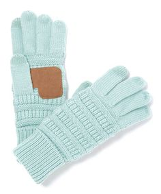 Another great find on #zulily! Mint Patch Touch Screen Gloves #zulilyfinds