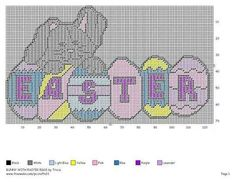 BUNNY WITH EASTER EGGS by TRICIA -- WALL HANGING