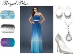 """""""Royal Blue"""" by tarisjamminberrynails ❤ liked on Polyvore"""