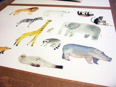 animals/ Jana Nachlingerová Moose Art, Animals, Animales, Animaux, Animal, Animais