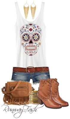 """""""Western Fashion"""" by lunagitana ❤ liked on Polyvore: Jennifer this will go with his arm. your hair is short, earrings are great"""