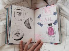 Sketch de caderninho com lapis