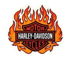 Harley Davidson Logo With Flames (4)