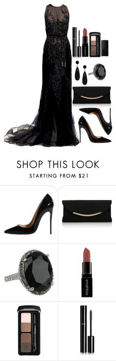 """""""Untitled #3493"""" by natalyasidunova ❤ liked on Polyvore featuring Dennis Basso, Christian Louboutin, Carvela Kurt Geiger, Olivia Welles, GUESS, Smashbox, Chanel and NARS Cosmetics"""