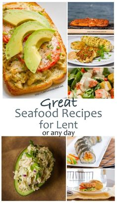 Great Seafood Recipes for Lent #seafoodrecipes