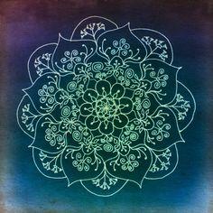 Blessed Rain Mandala - Metal Print
