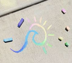 Chalk Drawings, Art Drawings, Vsco, Chalk Design, Chalk Wall, Sidewalk Chalk Art, Aesthetic Painting, Doodle Art, Art Inspo