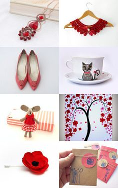 Red Ellegance - Etsy Treasury by Lisa P. --Pinned with TreasuryPin.com