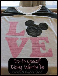 Sporting a Disney Valentine