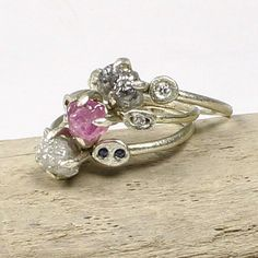 This year, do it different.  Raw, uncut, rough diamond and pink sapphire engagement rings.  Tamara Gomez Jewellery.