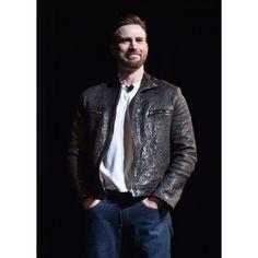Chris Evans Men's Brown Leather Jacket For Sale