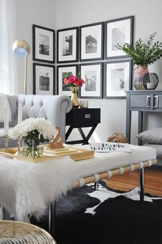 Wraparound Gallery Wall in the Living Room | One Room Challenge