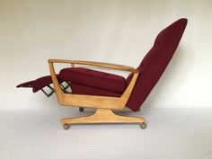Amazing vintage recliner given a new lease of life by BB Bespoke, in warm Elgin 161161.
