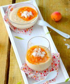 crème coco et compotée d'abricot