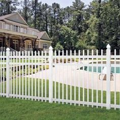 H x 6 ft. W White Vinyl Spaced Picket Fence Panel – Veranda 6 ft. Picket Fence Panels, Vinyl Picket Fence, Vinyl Fence Panels, Dog Fence, Front Yard Fence, Pallet Fence, Small Fence, Fence Stain, Horizontal Fence