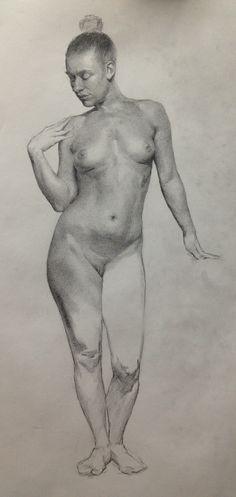 Girl naked full body drawing — photo 4
