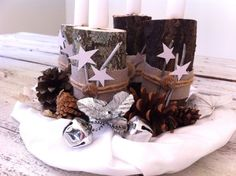 Making Advent decorations: magical ideas for the pre-Christmas season - Hair Beauty - Food and Drink - Christmas - DIY and Crafts - Home Decor Homemade Christmas Decorations, Christmas Diy, Christmas Wreaths, Wreath Boxes, Diy Wreath, Wreath Ideas, Advent Wreath Candles, Pine Cones, Pillar Candles