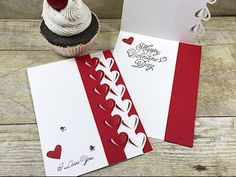 """Don't you love a card with dimension and movement? This """"popping heart"""" card was so fast and easy to create! I hope you like it. Here are the measurements fo..."""