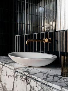 Hampden Road House by Archier The White Company, Australia Photos, Traditional Artwork, Concrete Wall, Bathroom Interior Design, Interiores Design, Soft Furnishings, The Locals, Interior Architecture