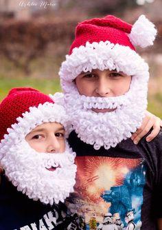 FREE Crochet Pattern - Double Loop Bearded Santa Hat in all sizes!