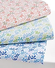 Martha Stewart Collection Leaf Ditsy Sheet Sets, 300-Thread Count Cotton Percale, Only at Macy's