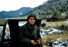 Lieutenant Bevin Alexander at the 3rd Infantry Division front west of Chorwon in February 1952.